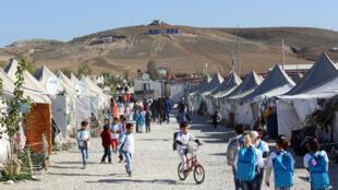 Un camp de réfugiés syriens en Turquie en décembre 2015.