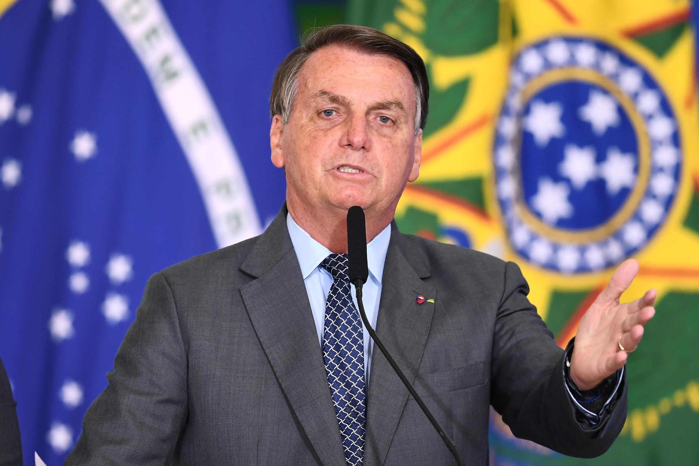 Le président brésilien Jair Bolsonaro à Brasilia, le 18 mai 2021