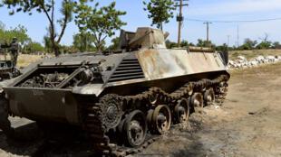 """دبابة تابعة لجماعة """"بوكو حرام"""" النيجيرية المتشددة"""