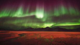 Une aurore australe impressionnante.