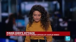 2020-09-25 14:00 Two injured in Paris stabbing attack, witness testify