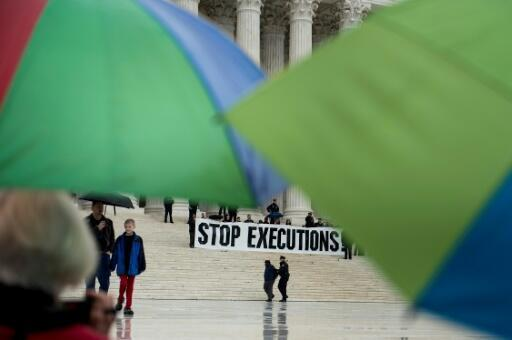 Una protesta contra la pena de muerte, el 17 de enero de 2017 en Washington
