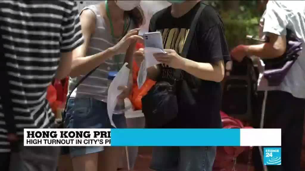 2020-07-13 10:12 High turnout in Hong Kong primaries despite tough security laws
