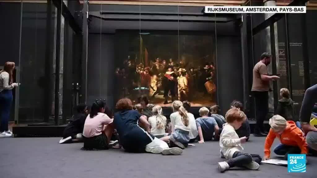 """2021-06-24 11:10 Art et intelligence artificielle : """"La ronde de nuit"""" de Rembrandt restaurée"""