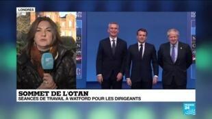 """2019-12-04 11:01 Sommet de l'Otan : """"Les États membres s'entendent pour dire que la menace terroriste est importante"""""""