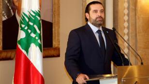 Saad Hariri, nommé Premier ministre du Liban le 3 novembre 2016 par le nouveau président Michel Aoun.