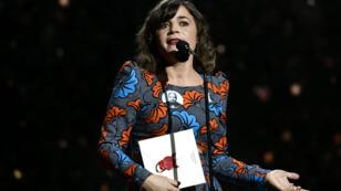 Blanche Gardin à la cérémonie des Césars le 2 mars 2018, à la salle Pleyel, à Paris.