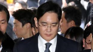 Lee Jae-Yong, président de Samsung Group, au tribunal de Séoul le 16 février.