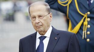 Le président libanais Michel Aoun, en visite à Paris fin septembre 2017.