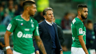 Les Verts de Claude Puel, pour le premier match du nouvel entraîneur de l'ASSaint-Étienne, se sont imposés face à l'Olympique Lyonnais, le 6octobre2019.
