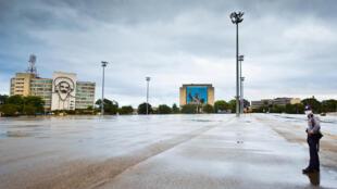 La Plaza de la Revolución de La Habana, casi vacía el 1 de mayo de 2020 como medida de precaución contra la pandemia de coronavirus. Estados Unidos ha acusado a Cuba de no hacer lo suficiente para luchar contra el terrorismo.