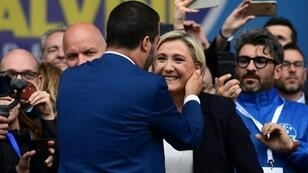 The parties of France's Marine Le Pen and Italy's Matteo Salvini earned the biggest results in their respective countries