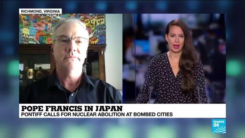 """2019-11-24 20:09 Dr. Andrew Chesnut on France 24: """"The keystone of the Pope's trip to Japan is peacemaking"""""""