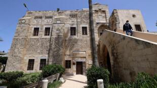 قصر الباشا في غزة، حيث يقال إن نابوليون نام ليلتين أو ثلاث ليال خلال حملته العسكرية في مصر والمشرق، في صورة التقطت في 21 نيسان/أبريل 2021