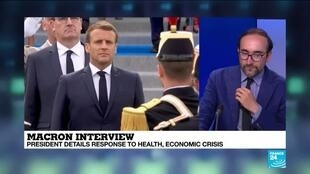 2020-07-14 16:02 French President Macron details response to health, economic crisis in Bastille Day interview