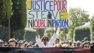 """Le cortège nantais a réclamé """"justice pour Steve""""."""