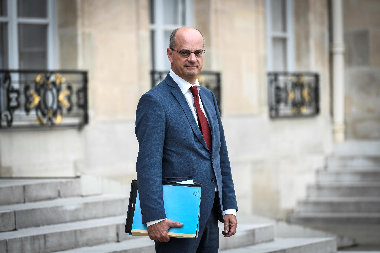Jean-Michel Blanquer devant le Palais de l'Élysée, le 31 août 2018.