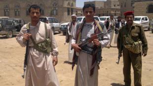 Des rebelles houthis à Sanaa.