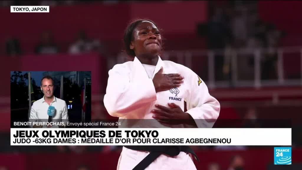 2021-07-27 12:01 La judokate française Clarisse Agbégnénou décroche sa première médaille d'or olympique