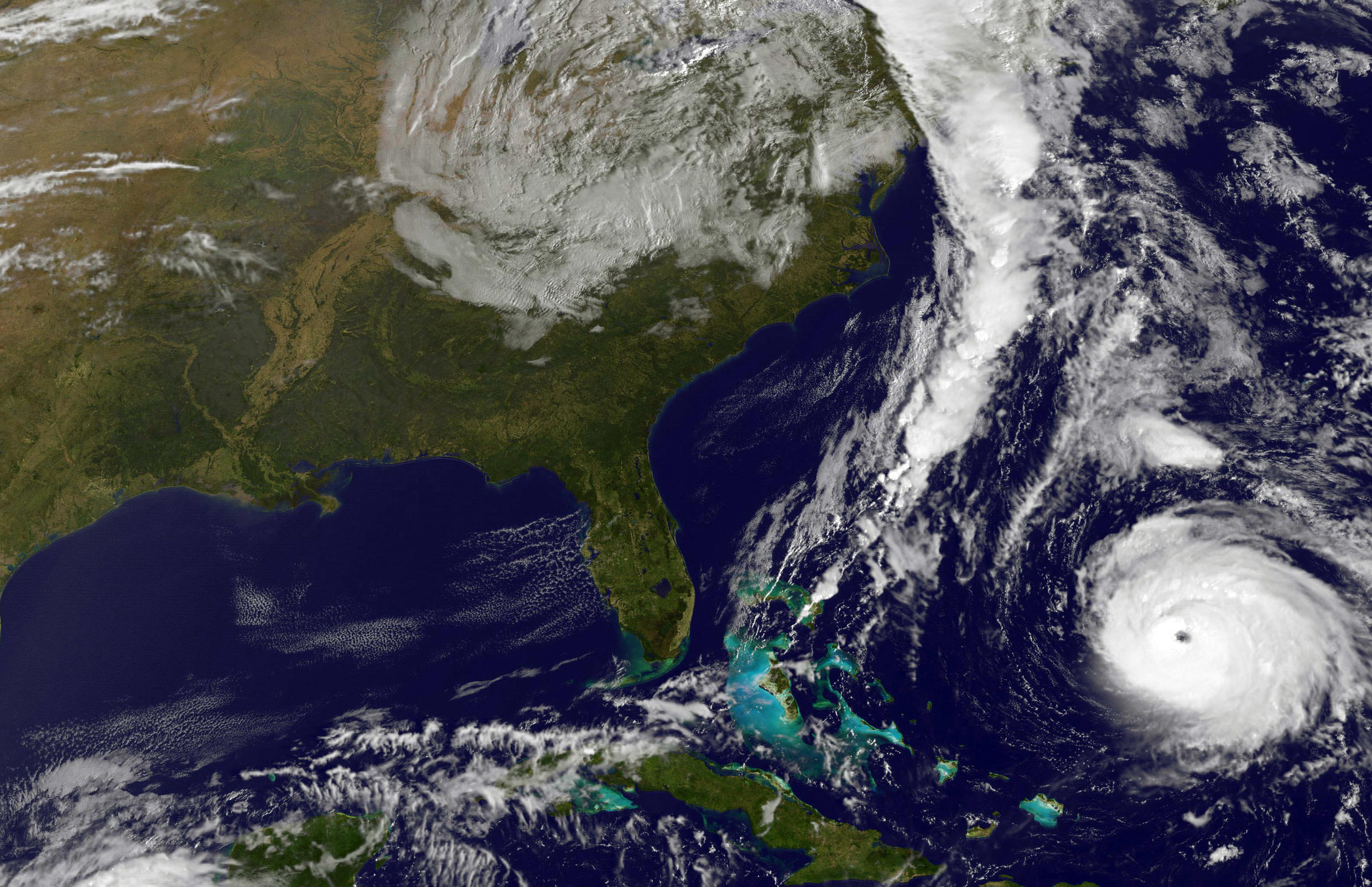 Satellite image of Hurricane Gonzalo, obtained October 17, 2014, shows the storm as it approaches Bermuda