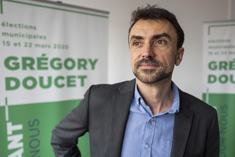 Le candidat EELV Grégory Doucet, le 27 novembre 2019, à Lyon.