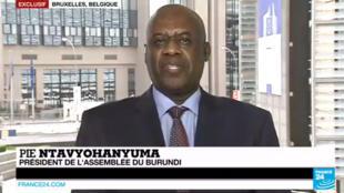 """Pour Pie Ntavyohanyuma, cela """"n'a pas de sens"""" que Pierre Nkurunziza brigue un troisième mandat."""