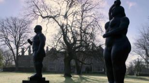 Las obras están siendo exhibidas en un parque al sur de Inglaterra