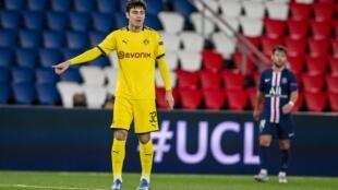 Dortmund's US midfielder Giovanni Reyna, 17, missed Saturday's Ruhr derby against Schalke after picking up an injury in the warm-up.
