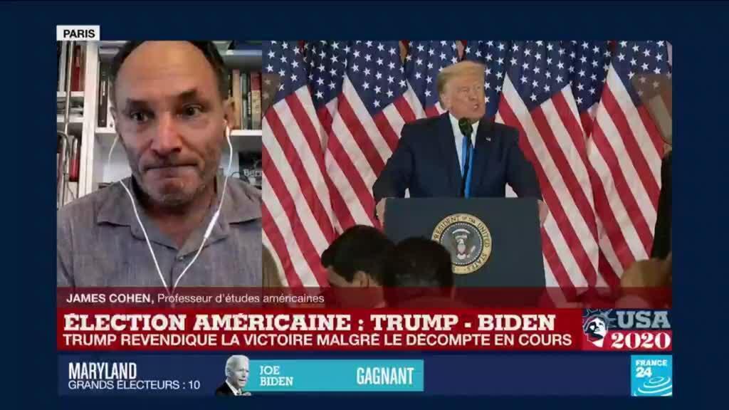 """2020-11-04 09:11 Élection américaine : """"Nous sommes dans une dynamique autoritaire qui m'inquiète"""""""