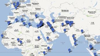 Aperçu des pays touchés par des manifestations contre le film anti-islam (The Atlantic Wire)