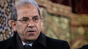 Le président du CFCM, Mohamed Moussaoui, durant un rassemblement à la Grande Mosquée de Paris le 22 mars 2019.