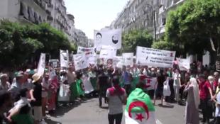 Des Algériens manifestent contre le pouvoir en place à Alger, le 6 août 2019.