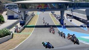 Enea Bastianini outpaced the Moto2 field in the Andalucia Grand Prix