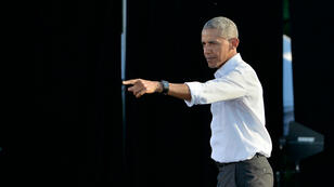 Le président américain lors d'un rassemblement électoral à Chapel Hill, en Caroline du Nord.