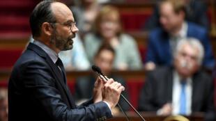 Le Premier ministre, Édouard Philippe, a prononcé son deuxième discours de politique générale à l'Assemblée nationale, le 12 juin 2019.