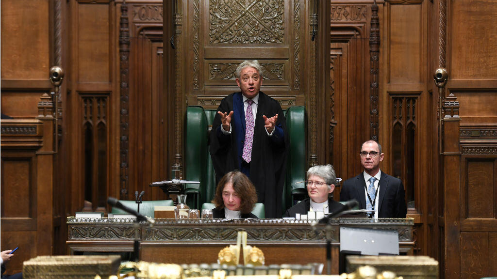 El diputado John Bercow habla ante la Cámara de los Comunes por última vez como speaker, en Londres, Reino Unido, el 31 de octubre de 2019.