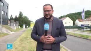 موفد فرانس24 أشرف عبيد قرب نقطة حدود ألمانية فرنسية.
