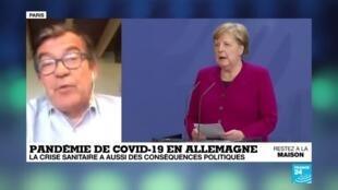 2020-04-28 08:10 En Allemagne, la crise sanitaire du coronavirus a aussi des conséquences politiques