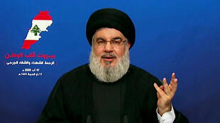 Hezbollah chief Hassan Nasrallah said the devastation caused by the explosion at Beirut's port was a 'major tragedy' in a televised speech days after the blast