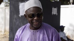 Le leader du Parti démocratique unifié (UDP), Ousainou Darboe, après la victoire de son parti aux législatives gambiennes, le 6 avril 2017.
