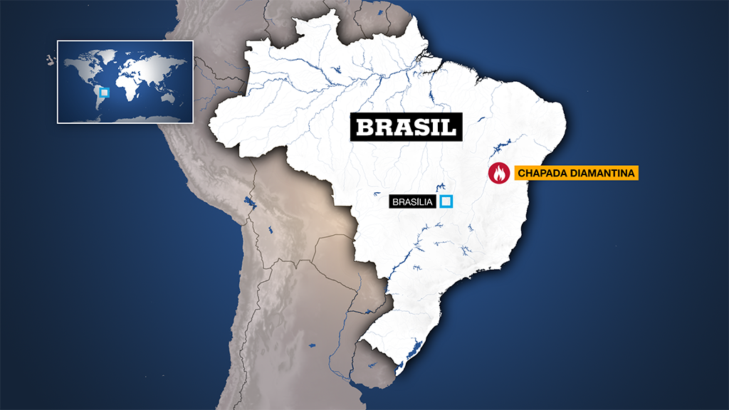 El ecosistema de Chapada Diamantina se encuentra en el estado de Bahía, noreste de Brasil.