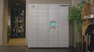 Le Hub, installé dans un hall d'immeuble.