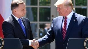 Andrzej Duda et Donald Trump à la Maison Blanche, le 12 mai 2019.