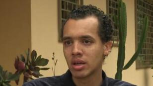 L'écrivain Gaël Faye, interviewé par France 24 à Kigali, au Rwanda.