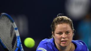 Kim Clijsters lors du  tournoi de Dubaï, le 17 février 2020