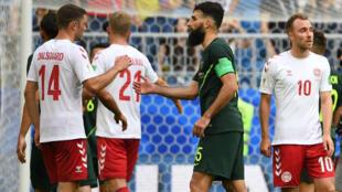 Le Danemark et l'Australie n'ont pu se départager, jeudi 21 juin, lors de leur deuxième match en Coupe du monde.