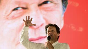 Imran Khan en campaña política antes de las elecciones generales en Islamabad, el 21 de julio de 2018.