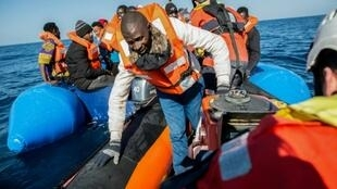 An Italian ship picked up some 50 migrants off the Libyan coast on Monday but it is unclear if it can land them in Italy.