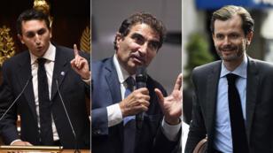 Julien Aubert, Christian Jacob et Guillaume Larrivé sont les trois candidats à la présidence des Républicains.