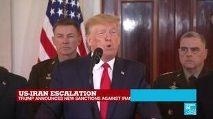"""2020-01-08 18:06 'I am going to ask NATO to become much more involved in the MIddle East process"""", US President Trump said"""